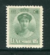 LUXEMBOURG- Y&T N°135- Neuf Avec Charnière * - 1921-27 Charlotte Voorzijde