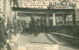 ARLON - 75° Anniv Indépendance - SAR Le Prince Albert Hôtel De Ville - Arlon