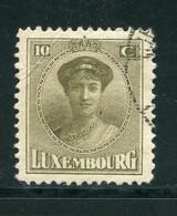 LUXEMBOURG- Y&T N°151- Oblitéré - 1921-27 Charlotte Voorzijde
