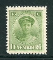 LUXEMBOURG- Y&T N°152- Neuf Avec Charnière * - 1921-27 Charlotte Voorzijde