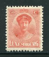 LUXEMBOURG- Y&T N°155- Neuf Avec Charnière * - 1921-27 Charlotte Voorzijde