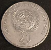 AUSTRALIE - AUSTRALIA - 20 CENTS 1995 - Elizabeth II - Nations Unies - KM 295 - 20 Cents