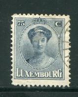 LUXEMBOURG- Y&T N°156- Oblitéré - 1921-27 Charlotte Voorzijde