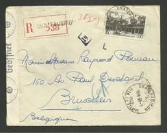 N° 499 / 5F Hotel Dieu Beaune Seul / Recommandée CHATEAUGIRON 28.01.1942 >>> BELGIQUE / Censure De La Wehrmacht - Covers & Documents
