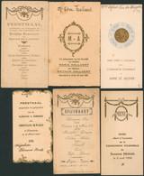 Belgique - Lot De 10 Menus (région Flamande, 1933 > 1942) Communion, Feestmaal - Menus