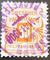 Germany Stadtpost/Privatpost  Dresden Packetfahrt 30 Pfg Used Michel 40 High Catalogue 1907 - Sello Particular