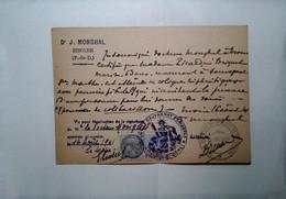H 15 Entier Servant De Certificat Médical Avec Tp Fiscal   Région Issoire - 2. Weltkrieg 1939-1945