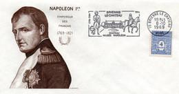Napoléon 1969 - Flamme Brienne Le Chateau Aube - Château Musée Cheval - Maschinenstempel (Werbestempel)