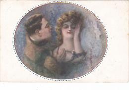 Monestier, Illustratore - Innamorati Viaggiata 1918 - Monestier, C.