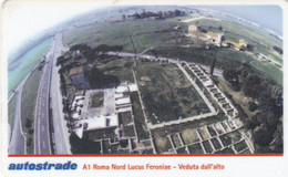 VIACARD AUTOSTRADE A1 ROMA NORD LUCUS FERONIAE VEDUTA DALL' ALTO - Other