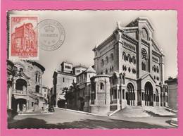Monaco - Carte Maximum N° 313B 1952 - La Cathédrale - Expo Philatélique Reinatex - Maximum Cards