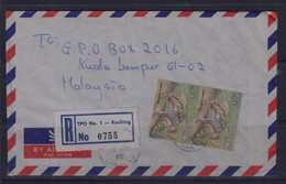 Malaysia, Sarawak 1983 Registered Cover With T.P.O. No.1(Travelling Post Office) Cancellation, Dated 6 May 83 - Malaysia (1964-...)