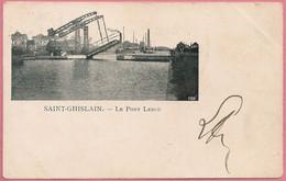 C.P. Saint-Ghislain  = Le Canal De MONS  à CONDE  : Le Pont  LEBLU - Saint-Ghislain