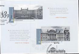 BRD Block 76, Gestempelt ESST Bonn/Berlin, Auf Briefstück, Bundestag Und Bundesrat 2009 - Blocks & Kleinbögen