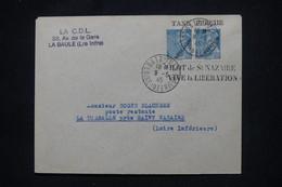FRANCE - Mercure Avec Surcharge Libération Sur Enveloppe De Batz/Mer En 1945 ( Poche De St Nazaire) - L 106086 - Liberation