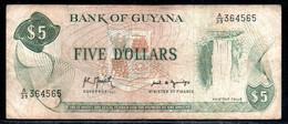 329-Guyana 5$ 1992 A39 Sig.8 - Haiti