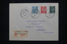 FRANCE - Pétain / Mercure Avec Surcharge Libération Sur Enveloppe De La Baule En 1945 ( Poche De St Nazaire) - L 106088 - Liberation