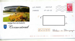 Pap Beaujard Flamme Chiffree Illustré College Coubertin - PAP: Ristampa/Beaujard