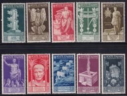 Regno D'Italia Augusto 1937 Serie Completa Sass. 416/425 MH* Cv 140 - Neufs