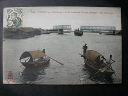 TONKIN -HAIPHONG Pont Tournant Livrant Passage  à Une Chaloupe Timbre Indo Chine -(Septembre 2021 01) - Vietnam