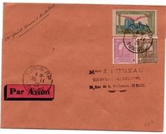 1er Raid Tunis Antibes 1926 - Lettre De Tunisie Pour Nice Avec Cachet Arrivée Au Verso - 1er Vol Avion - Luftpost