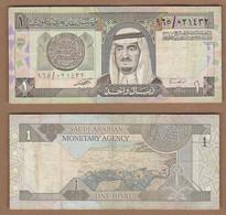 AC - SAUDI ARABIA 1 RIYAL 1984 VF+ - Saudi Arabia