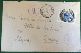 19453- Italia Regno - Busta Viaggiata Da Roma Per Ginevra  - 173 - Storia Postale