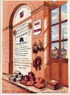 1 Trade Card, BRUXELLES  C1875, BOURET St Josse-ten-Noode, Chaussèe De Haecht, 8 - Imprimeur APPEL Rue Delta Paris - Andere
