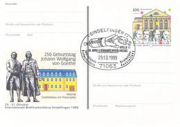 Germany Postal Stationary Weimar W/print Briefmarken-Börse Sindelfingen Posted Sindelfingen 1999  (DD29-54) - Privatpostkarten - Gebraucht