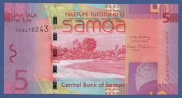 SAMOA - P.38a – 5 TALAND (2008) - UNC Prefix TK0478243 - Samoa