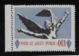 France Libération Vignette De Gaulle - Neuf ** Sans Charnière - TB - Liberation