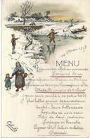 BOUILLON CIBILS-MENU KAART 14 MAI 1898-WINTERLANDSCHAP - Menus
