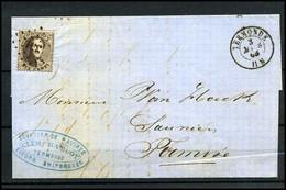 Brief Uit 1865 Met No 14 - 1863-1864 Medaillen (13/16)