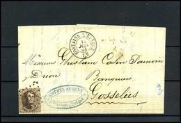 Brief Uit 1864 Van Fontaine L'Eveque Naar Gosselies, Met No 14 - 1863-1864 Medaillen (13/16)