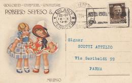 Pubblicitarie - Cioccolato Roberto Seveso - Milano - F. Piccolo - Viagg  - Molto Bella - F.ta Bertiglia - Advertising