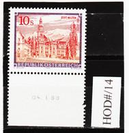 HOD#/14 ÖSTERREICH 1988 STIFTE Und KLÖSTER Michl 1915 ANK 1946 Mit DRUCKDATUM  ** Postfrisch SIEHE ABBILDUNG - 1981-90 Neufs