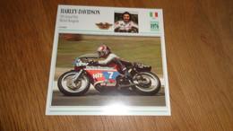 HARLEY DAVIDSON 350 GP Michel Rougerie Etats UNIS USA Moto Fiche Descriptive Motocyclette Motos Motorcycle Motocyclette - Sin Clasificación