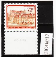 HOD#/17 ÖSTERREICH 1986 STIFTE Und KLÖSTER Michl 1863 ANK 1894 Mit DRUCKDATUM  ** Postfrisch SIEHE ABBILDUNG - 1981-90 Neufs