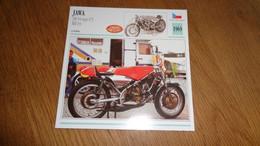 JAWA 350 V4 Type 673 Bill Ivy 1969 Tchécoslovaquie Moto Fiche Descriptive Motocyclette Motos Motorcycle Motocyclette - Sin Clasificación