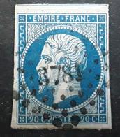 Empire No 14 Obl Pc 3781 Bureau Supplémentaire De BRIEC DE L' ODET , Finistère,  Indice 18 , UN GRAND VOISIN, TB - 1853-1860 Napoleon III