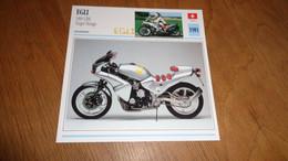 EGLI 1000 CBX Target Désign 1981 Suisse Switzerland Moto Fiche Descriptive Motocyclette Motos Motorcycle Motocyclette - Sin Clasificación