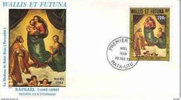 FDC Wallis Et Futuna PA 131  Raphael 22 12 1983. Madonne. - FDC