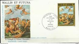 FDC Wallis Futuna YT PA 129 Raphaêl  Triomphe De Galatée - FDC
