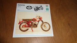 PANNONIA 250 P 20 1974 Hongrie Moto Fiche Descriptive Motocyclette Motos Motorcycle Motocyclette - Sin Clasificación