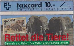 SWITZERLAND - Stamp, WWF/Elephants, CN : 104F, Tirage 9500, 04/91, Mint - Francobolli & Monete