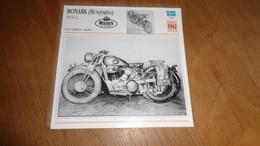 MONARK Husqvarna 500 M-42 Army Armée 1942 Suède Sweden Moto Fiche Descriptive Motocyclette Motos Motorcycle Motocyclette - Sin Clasificación
