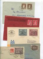 8623) 10 Belege Gesamtdeutschland - Marcofilie - EMA (Printmachine)