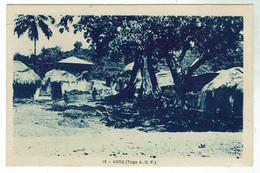 AGOU -bon état- Circulée 1950 - Timbres - Togo