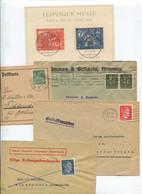 8626) 10 Belege Gesamtdeutschland - Marcofilie - EMA (Printmachine)