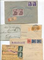 8635) 10 Belege Gesamtdeutschland - Marcofilie - EMA (Printmachine)